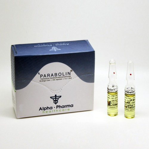 Parabolin Trenbolone Hexahydrobenzylcarbonate 76.5mg 1.5ml 5 Ampoules